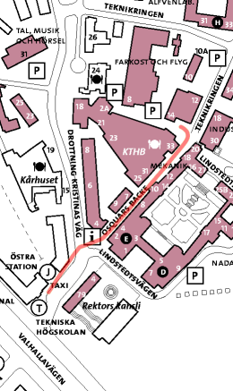 KTH Campus map